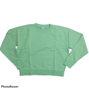 Outdoor Voices Jade Terry Crew Neck Sweatshirt Lrg